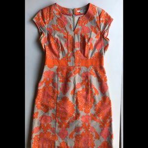 Biden Linen Notch Neck Dress Floral shift size 12
